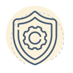 Forex trading course - shield icon