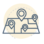 Map and location icon