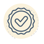 Check mark in a seal icon