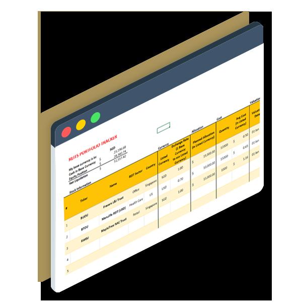 Screenshot of the Piranha Profits REIT Portfolio Tracker