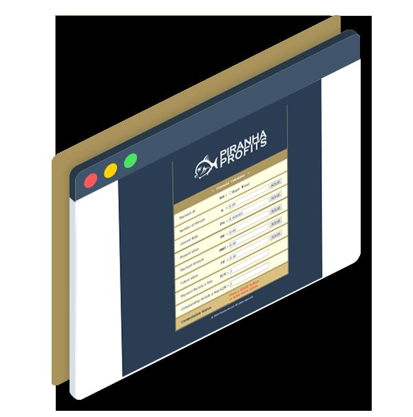 Screenshot of the Piranha Profits Financial Planning Calculator