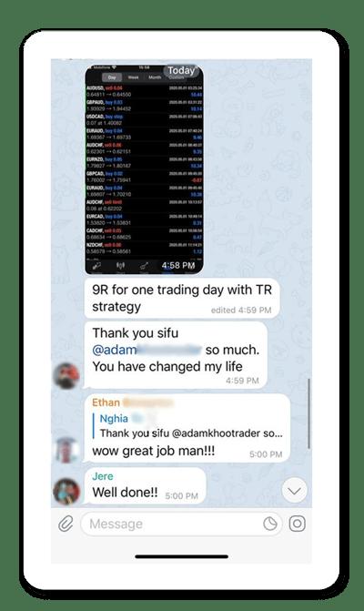 Screenshot of Piranha Profits Telegram group
